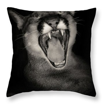 Cruz Yawning Throw Pillow