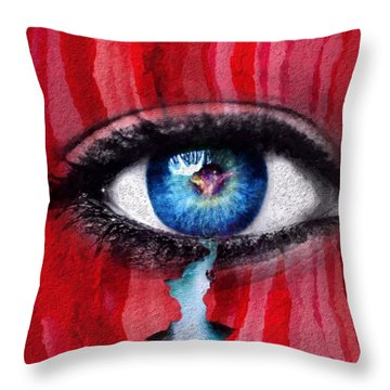 Throw Pillow featuring the painting Cry Me A River by Mark Taylor