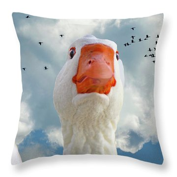 Cry Of The Wild Goose Throw Pillow