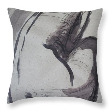 Crying Heart - Nudes Gallery Throw Pillow by Carmen Tyrrell