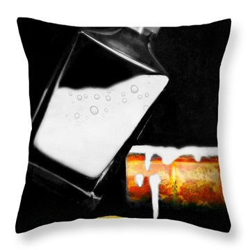 Throw Pillow featuring the photograph Crying Over Spilled Milk by Diana Angstadt