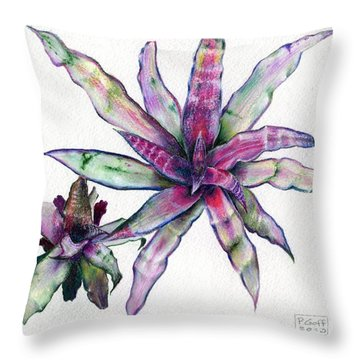 Cryptanthus Richard Lum Throw Pillow