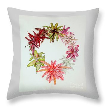 Cryptanthus Wreath Throw Pillow