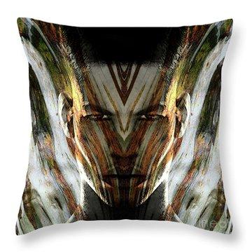 Cryptofacia 107 Throw Pillow