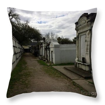Crypts Throw Pillow