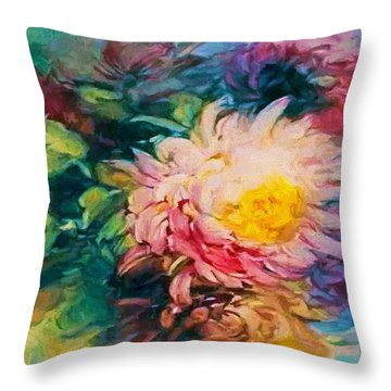 Chrysanthemums Throw Pillow