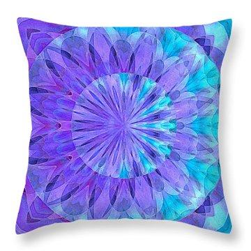 Crystal Aurora Borealis Throw Pillow