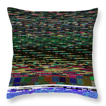 Crystal Balls And The Glitch For The Ditch Throw Pillow