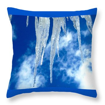 Crystal Blue Throw Pillow by Angela Davies