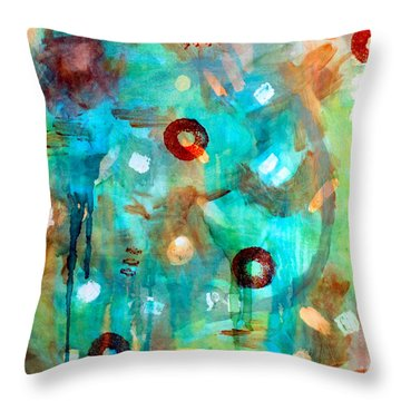 Crystal Blue Persuasion Throw Pillow by Shelley Graham Turner