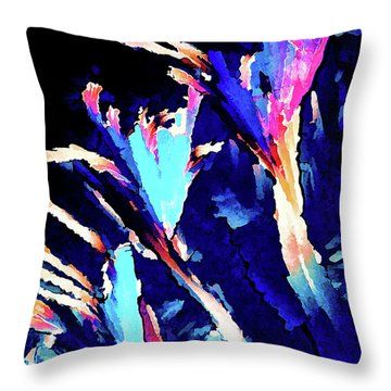 Throw Pillow featuring the digital art Crystal C Abstract by ABeautifulSky Photography
