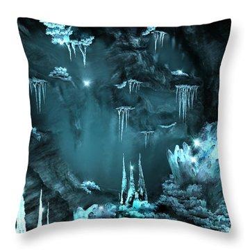 Crystal Cave Mystery Throw Pillow