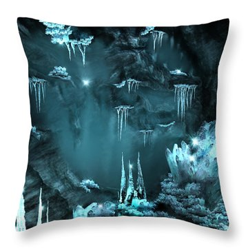 Crystal Cave Mystery Throw Pillow