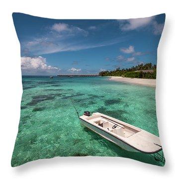 Crystal Clarity. Maldives Throw Pillow by Jenny Rainbow