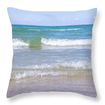 Crystal Clear Water Throw Pillow by Charline Xia