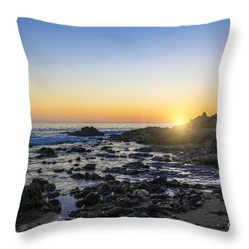 Throw Pillow featuring the photograph Crystal Cove Sunset by Anthony Baatz