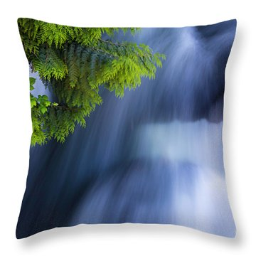 Crystal Creek Waterfalls Throw Pillow