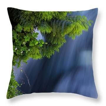 Crystal Creek Waterfalls Throw Pillow
