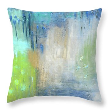Throw Pillow featuring the painting Crystal Deep  by Michal Mitak Mahgerefteh