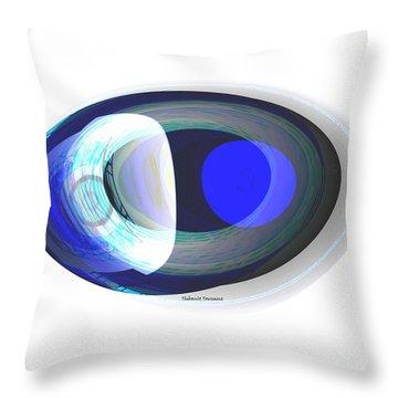 Crystal Eye Throw Pillow by Thibault Toussaint