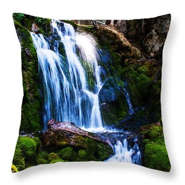 Crystal Fall Throw Pillow