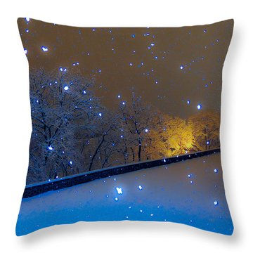Crystal Falls Throw Pillow by Glenn Feron