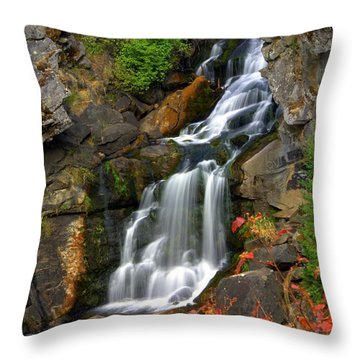 Crystal Falls Throw Pillow by Marty Koch