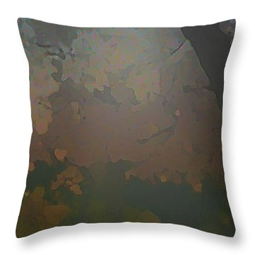 Crystal Forest Throw Pillow by Kat Besthorn