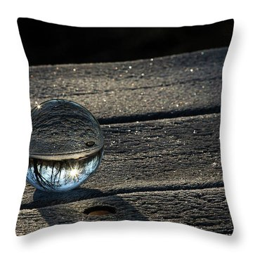 Crystal Frost Throw Pillow