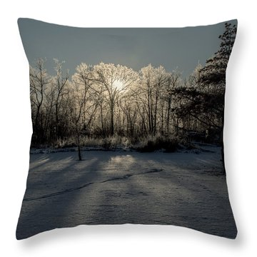 Crystal Glow Throw Pillow