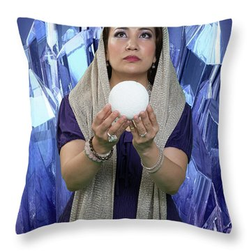 Crystal Goddess Throw Pillow