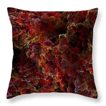 Throw Pillow featuring the digital art Crystal Inspiration Number Two Close Up by Olga Hamilton