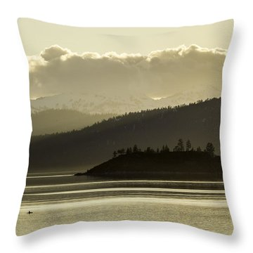 Crystal Kayak Throw Pillow