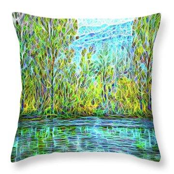 Crystal Lake Enchantment Throw Pillow