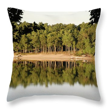 Throw Pillow featuring the photograph Crystal Lake In Whitehall Mi by Ferrel Cordle