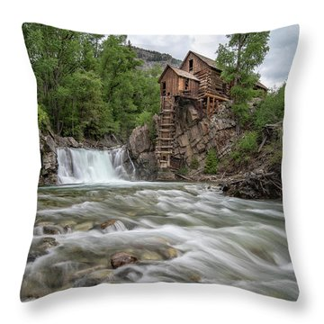 Crystal Mill Colorado 2 Throw Pillow
