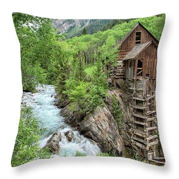 Crystal Mill Colorado 3 Throw Pillow