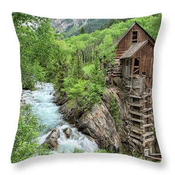 Crystal Mill Colorado 3 Throw Pillow