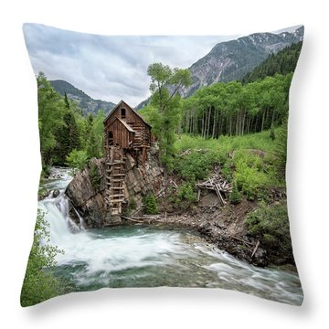 Crystal Mill Colorado 4 Throw Pillow