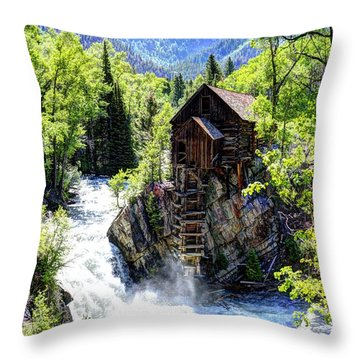 Crystal Mill Throw Pillow by Jean Hutchison
