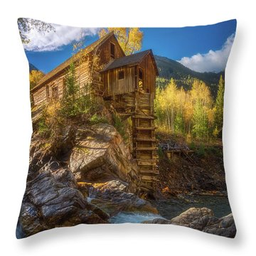 Crystal Mill Morning Throw Pillow by Darren White