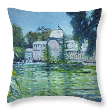 Crystal Palace Madrid Spain 2016 Throw Pillow by Enver Larney