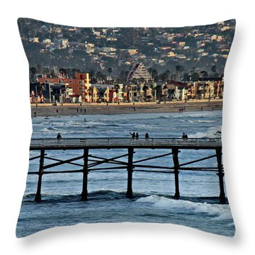 Crystal Pier - Mission Beach - Big Dipper Throw Pillow