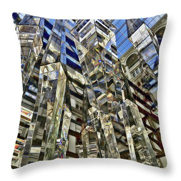 Crystal Reflection Trump Throw Pillow by Lorella Schoales