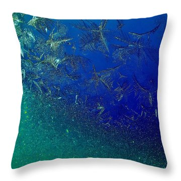 Crystal Sea Throw Pillow by Danielle R T Haney