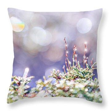 Crystal Silence Throw Pillow