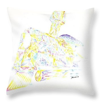 Crystal Train Throw Pillow