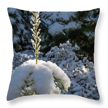 Crystal Tree Throw Pillow