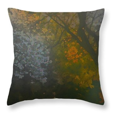 Crystal Tree Throw Pillow by Kat Besthorn