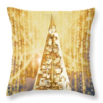 Crystal Tree Throw Pillow